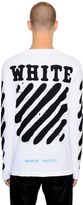 Off-White Spray Stripes Long Sleeve Jersey T-Shirt