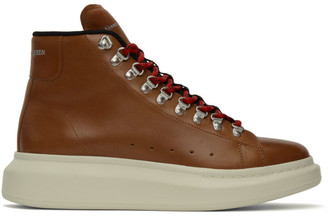Alexander McQueen Brown Hybrid Hiking Boots