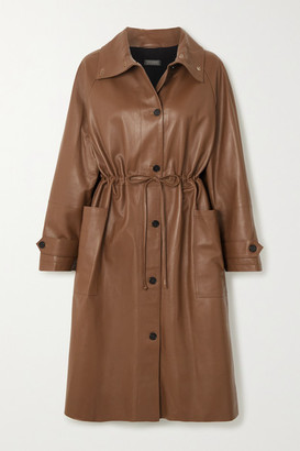 Utzon Leather Coat - Brown