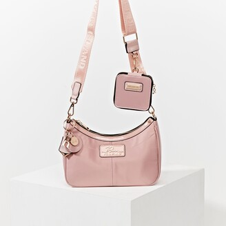River Island Womens Pink scoop shoulder bag with mini pouchette