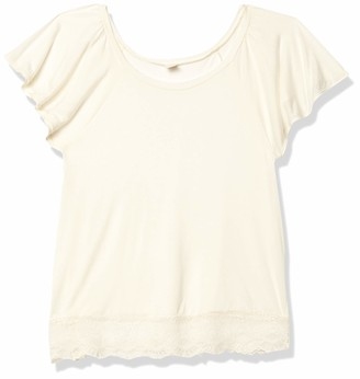 Only Hearts Women's Venice Lace Hem Sleep T-Shirt
