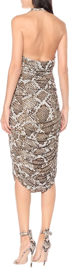 Thumbnail for your product : Norma Kamali Exclusive to Mytheresa Bill snake-print jersey halter dress