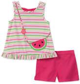 Kids Headquarters Baby Girls 2-Pc. Striped Top & Shorts Set,
