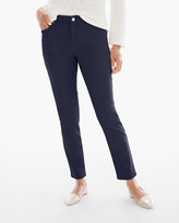 Chico's Sateen Girlfriend Ankle Jeans in Deep Navy
