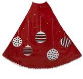 Kurt Adler Red Treeskirt with Ornament Design, 48-Inch