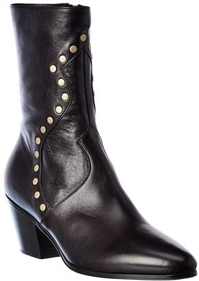 Celine Cubaine Medium Leather Boot