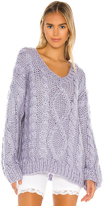superdown Roxie Cable Knit Sweater