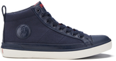 Polo Ralph Lauren Men's Clarke Canvas HiTop Trainers - Newport Navy