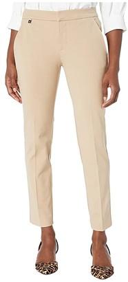 Lauren Ralph Lauren Petite Stretch Straight Pants (Birch Tan) Women's Clothing