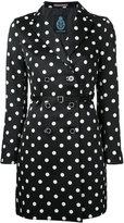 GUILD PRIME short polka dot trench coat - women - Polyester - 34