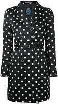 GUILD PRIME short polka dot trench coat