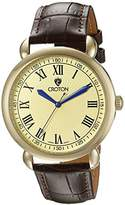 Croton Men's CN307532BRCH HERITAGE Analog Display Quartz Brown Watch