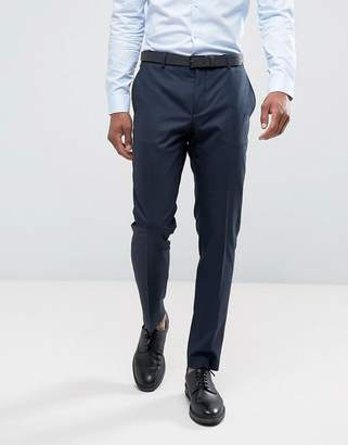 Slim Fit Suit Trousers In Navy