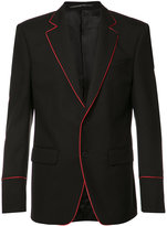 Givenchy trimmed blazer jacket - men - Cupro/Mohair/Wool - 46