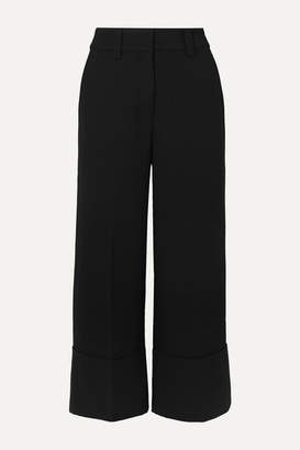 J.Crew Valentin Cropped Crepe Wide-leg Pants - Black