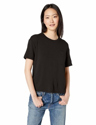 Daily Ritual Amazon Brand Women's Supersoft Terry Short-Sleeve Boxy Pocket Tee