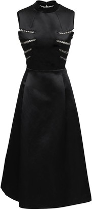 Noir Kei Ninomiya Satin Dress W/ Metal Details