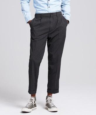 Todd Snyder Seersucker Tartan Pleated Relaxed Trouser