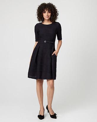Le Château Textured Knit Fit & Flare Dress