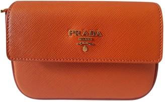 Prada Orange Leather Clutch bags
