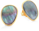 Marco Bicego Lunaria 18K Yellow Gold & Black Mother-Of-Pearl Stud Earrings
