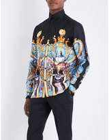 Versace Palace-print regular-fit silk-twill shirt