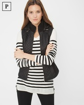 White House Black Market Petite Quilted Vest with Hood