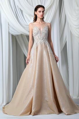 Tony Ward Sleeveless Silk Organza Cloquee Gown