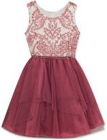 Rare Editions Cascading Tulle Party Dress, Little Girls (4-6X)