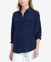 Lauren Ralph Lauren Crepe Button-Up Shirt