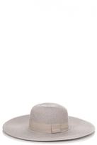 Quiz Grey Straw Hat