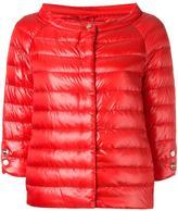 Herno collarless down jacket - women - Polyamide/Goose Down - 46