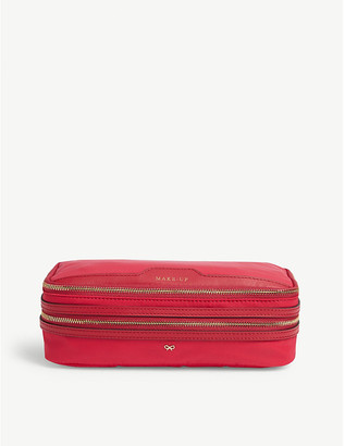 Anya Hindmarch Leather-trimmed nylon make-up bag