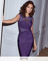 Lipsy Love Michelle Keegan Petite Ruched Sequin Detail Bodycon Dress
