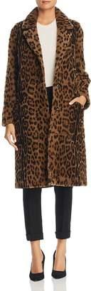 Maximilian Furs Leopard-Print Lamb Shearling Coat - 100% Exclusive