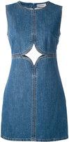Courreges cut out detail denim dress - women - Cotton - 34