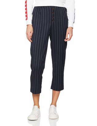New Look Women's Pinstripe Button Front Trousers