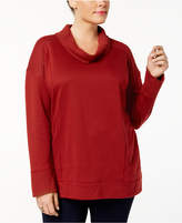 Style&Co. Style & Co Plus Size Funnel-Neck Sweatshirt, Created for Macy's