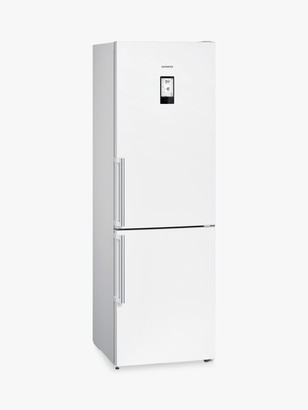Siemens KG39NLB35 Freestanding 60/40 Fridge Freezer with Home Connect, A++ Energy Rating, 60cm Wide, Black Glass