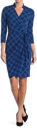 Maggy London Long Sleeve Wrap Dress