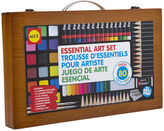 Alex Artist Studio Portable Essential Art Supplies Set with Wood Carrying Case