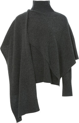 LVIR Draped Wool Turtleneck Sweater