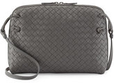 Bottega Veneta Intrecciato Messenger Bag, Gray