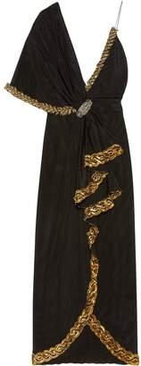 Gucci asymmetric wrap-front gown
