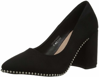 Lost Ink Women's Tilly Stud Outsole Block Heel Closed Toe