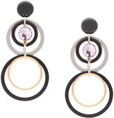 Marni multi-hoop pendant earrings