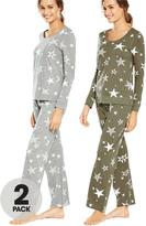 Very 2 Pack Stars Print Long Sleeve Pj