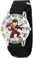 Marvel Super Hero Adventure Iron Man Toddler Boys Clear Plastic Time Teacher Watch