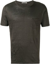 La Fileria For D'aniello - chest pocket T-shirt - men - Linen/Flax - 44