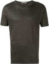 La Fileria For D'aniello - chest pocket T-shirt - men - Linen/Flax - 48